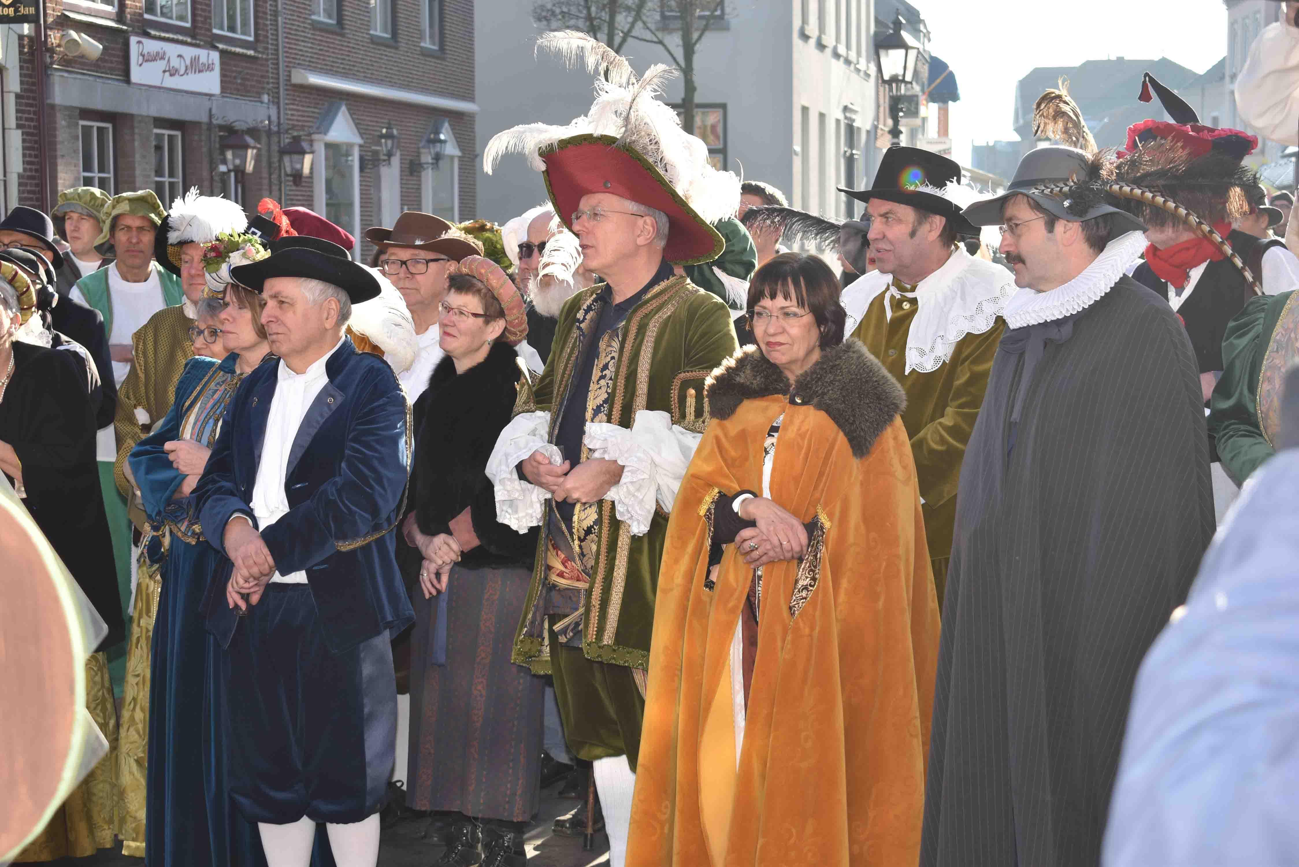 Opening jubileumjaar; feest in 17e eeuwse sfeer