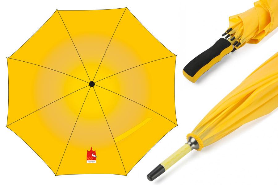 Paraplu met logo 400 jaar Stadhuis